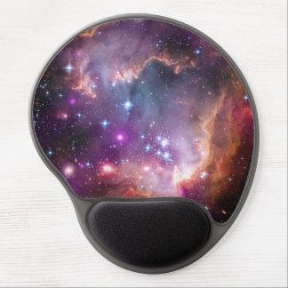 Púrpura galáctica del espacio exterior alfombrilla de raton con gel