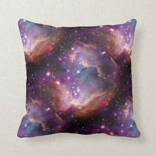 Púrpura galáctica del espacio exterior almohada