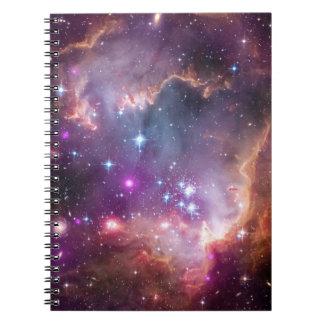 Púrpura galáctica del espacio exterior cuadernos