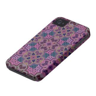 Púrpura geométrica colorida del ~ funda para iPhone 4