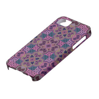 Púrpura geométrica colorida del ~ iPhone 5 carcasas