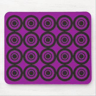 Púrpura geométrica de moda fresca del cojín de alfombrilla de raton