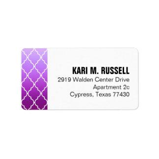Púrpura geométrica del correo el | de Ombre Etiquetas De Dirección