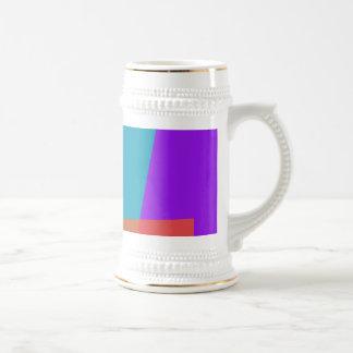 Púrpura geométrica taza