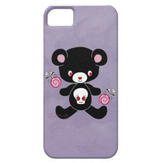 Púrpura gótica del oso de peluche iPhone 5 Case-Mate carcasas
