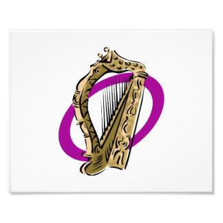 Púrpura gráfica ring png de la arpa adornada fotografia