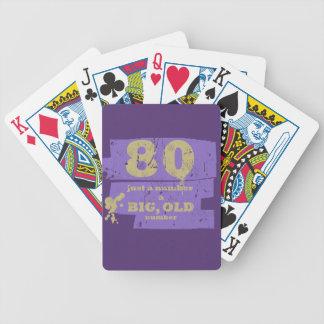 Púrpura grande, vieja 80 baraja cartas de poker