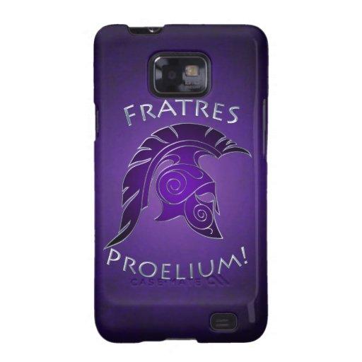 Púrpura griega Trojan espartano Samsung de la plat Samsung Galaxy S2 Funda