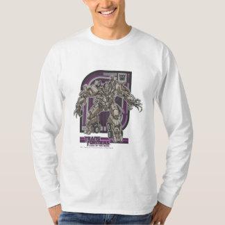 Púrpura/gris de la insignia de Megatron TF3 Poleras