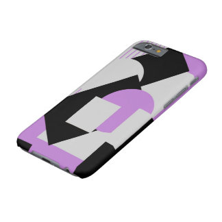 Púrpura gris del puré-para arriba abstracto funda barely there iPhone 6