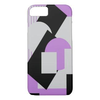 Púrpura gris del puré-para arriba abstracto funda iPhone 7