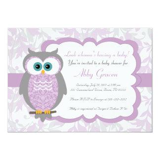 """Púrpura, gris, invitaciones de la fiesta de invitación 4.5"""" x 6.25"""""""