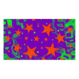 Púrpura hechizada de la plantilla de la tarjeta de plantilla de tarjeta de visita