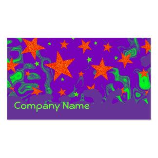 Púrpura hechizada de la tarjeta de visita del Grun