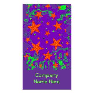 Púrpura hechizada del retrato de la tarjeta de vis plantilla de tarjeta personal