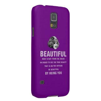 Púrpura hermosa del comienzo de la necesidad del fundas de galaxy s5