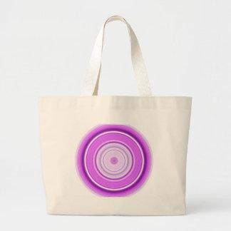 Púrpura hipnótica del círculo bolsa de tela grande