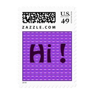 púrpura hola timbres postales