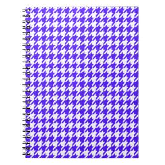 Púrpura Houndstooth de Han Libretas Espirales