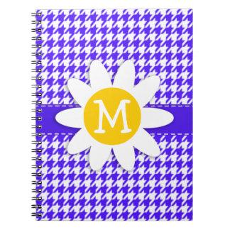 Púrpura Houndstooth de Han; Margarita Cuadernos