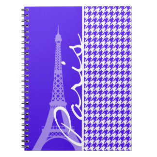 Púrpura Houndstooth de Han; París Cuadernos