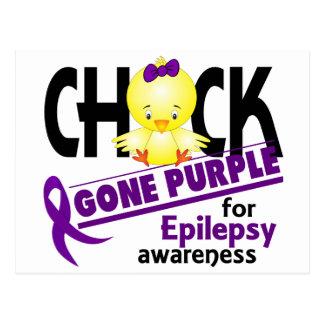 Púrpura ida polluelo 2 de la epilepsia tarjeta postal
