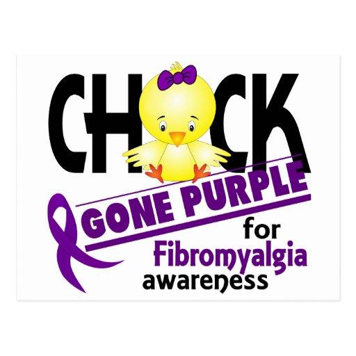 Púrpura ida polluelo 2 del Fibromyalgia Postal