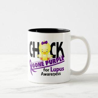 Púrpura ida polluelo 2 del lupus taza dos tonos