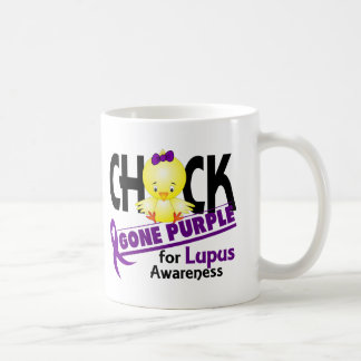 Púrpura ida polluelo 2 del lupus taza básica blanca