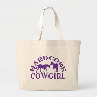Púrpura incondicional de la vaquera A262 Bolsas De Mano