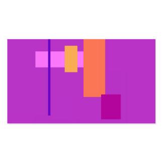 Púrpura inocente tarjetas de visita