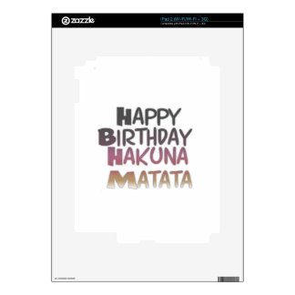 Púrpura Inspir de Hakuna Matata del feliz Skins Para iPad 2