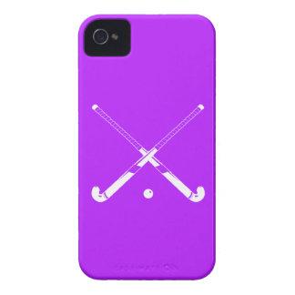 Púrpura intrépida del hockey hierba de Blackberry iPhone 4 Case-Mate Funda