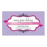 Púrpura intrépida elegante del rosa del fuschia de tarjetas de negocios