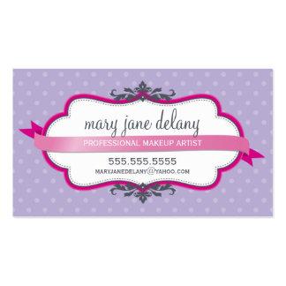 Púrpura intrépida elegante del rosa del fuschia de tarjetas de visita
