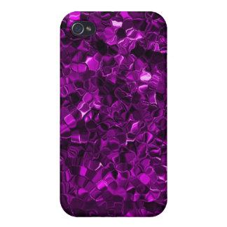 Púrpura iridiscente iPhone 4 cárcasa