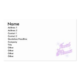 Púrpura judía de la princesa tarjetas de visita