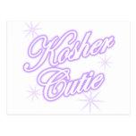 púrpura kosher del cutie postal