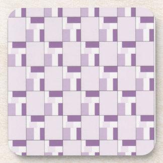 Púrpura, lila y prácticos de costa blancos del cor posavasos de bebida