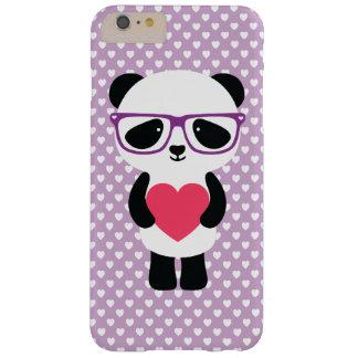 Púrpura linda de la panda funda para iPhone 6 plus barely there