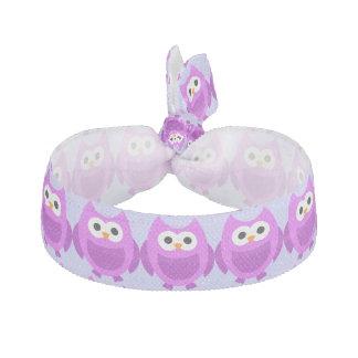 Púrpura linda de los animales del pájaro del búho bandas para cabello