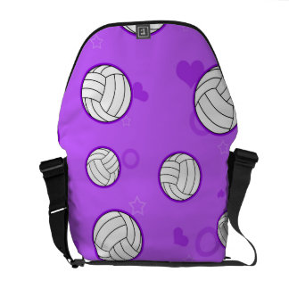 Púrpura linda del modelo del voleibol bolsa messenger