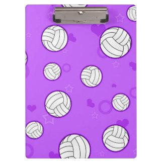 Púrpura linda del modelo del voleibol