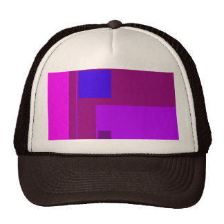 Púrpura linear de la belleza gorros bordados
