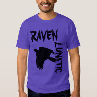Púrpura loca del cuervo poleras