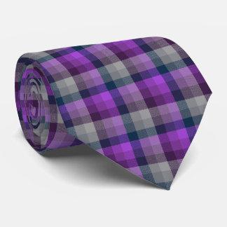 Púrpura loca y marina de guerra de la tela corbata