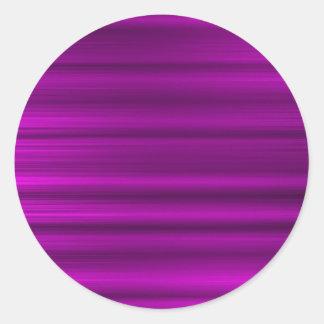 Púrpura magenta cepillada pegatina redonda