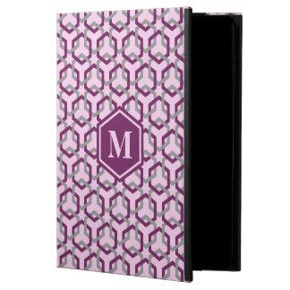 Púrpura magenta y el gris ligaron el caso del iPad