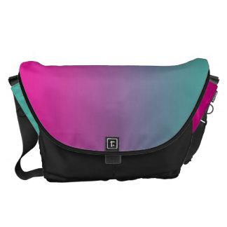 Púrpura magenta y trullo grandes bolsa de mensajería