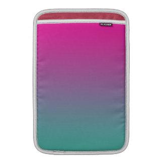 Púrpura magenta y trullo Ombre Funda Macbook Air